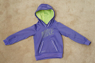 Nike Therma-Fit Girls Purple & Green 3T Hooded Tracksuit Top