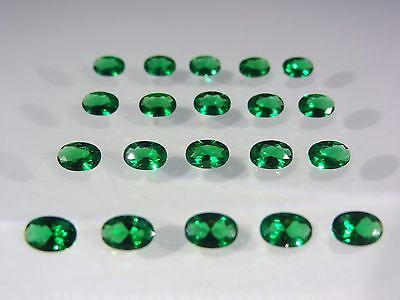Emerald Green Oval Shape SIZE CHOICE Loose Stones Nanocrystal Gemstones