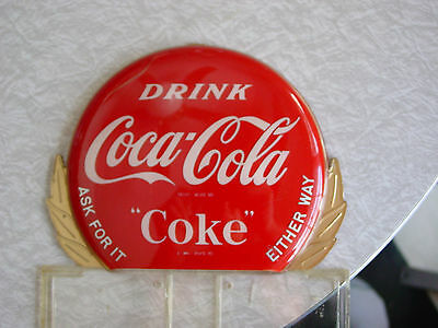 Coca-Cola Bottle Topper Button  Advertising Sign / Gas / Oil /pepsi / root beer
