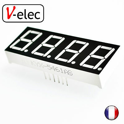 """1106# 0.56"""" 7 Segment 4 Digit common anode red LED digital display for Arduino"""
