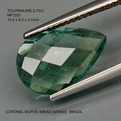 TOURMALINE WITH BLUE/GREEN ZONING UNTREATED NATURAL MINED 2.72Ct  MF7257