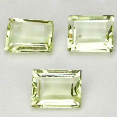 HELIODOR BERYL NATURAL MINED UNTREATED STONES x 3 TOTAL 2.35Ct  MF1004