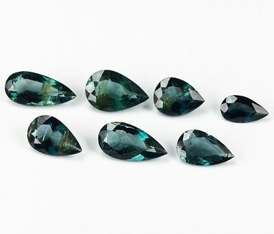 TOURMALINE x 7 NATURAL UNTREATED STONES TOTAL 7.12Ct