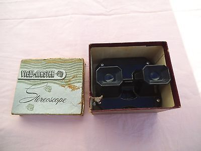 Sawyers View Master Viewmaster, boxed, instructions, 5 reels, reel catalogue