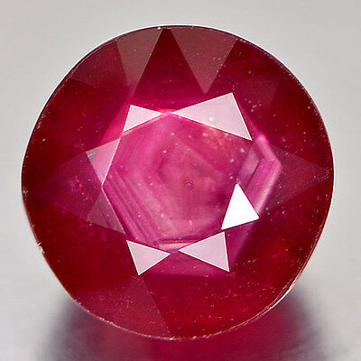 RUBY NATURAL TREATED STONE ROUND FACET CUT 4.63Ct