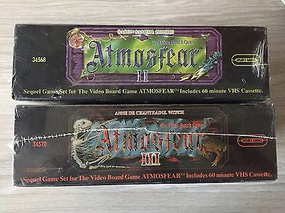ATMOSFEAR 2 & 3 The Video VHS Board Game Bundle New And Sealed Rare