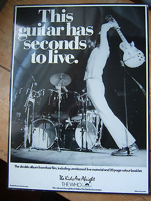 THE WHO  Promo material  for THE KIDS ARE ALRIGHT .. THIS GUITAR.....