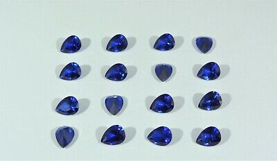 Blue Spinel Pear Shape SIZE CHOICE Loose Stones Cubic Zirconia Gemstones