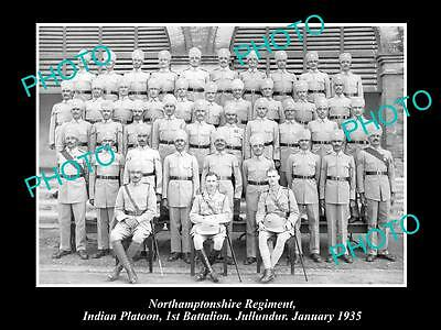 OLD HISTORIC MILITARY PHOTO OF NORTHAMPTONSHIRE REGIMENT, 1st BATTALION 1935