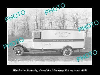 OLD LARGE HISTORIC PHOTO OF WINCHESTER KENTUCKY, WINCHESTER BAKERY TRUCK c1930