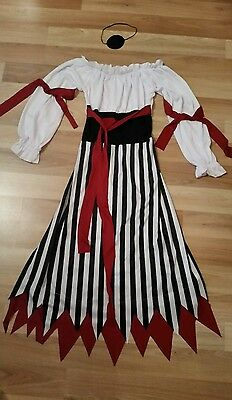Ladies Smiffys Pirate Lady Outfit size M 12-14
