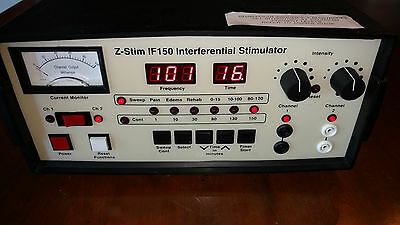 Amrex Z-Stim IF-150 Interferential Stimulator Chiropractic PT Therapy   ~TESTED~