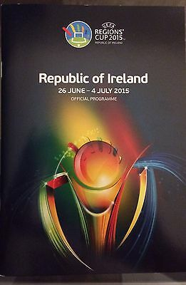 UEFA Regions Cup 2015 Rep Of Ireland Tournament Programme Mint Condition