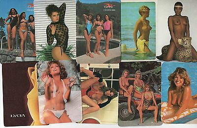 Portugal 9 X Erotic Sexy Nude Pocket Calendars 80/90's