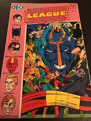 Independent Comics. Group Official Justice League Of America Index #4. May 1986
