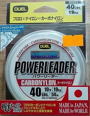 DUEL HARDCORE POWERLEADER CARBONYLON FLUOROCARBON 40lbs 50m dia. 0.520mm JAPAN