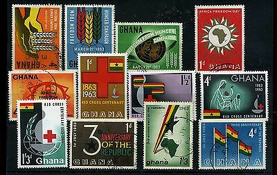 Ghana.12 -- 1963 Mounted Mint/ Used Stamps On Stockcard