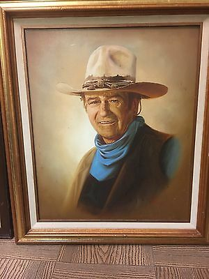 John Wayne Oil Painting By Lee Young Framed