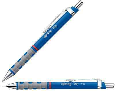 New Blue Rotring Tikky F Blue Ink Ball Point Pen + Blue Mechanical pencil 0.5mm