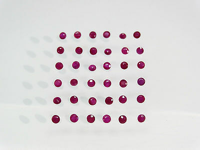 Red Ruby 100% Natural Round Cut SIZE CHOICE Loose Gemstones