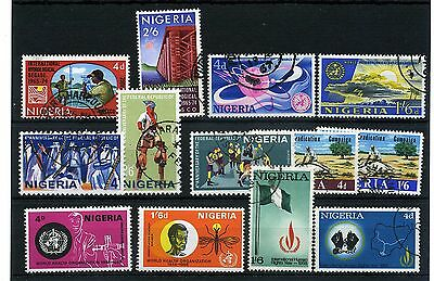 Nigeria.13 -- Mint/used 1967/8 Stamps On Stockcard