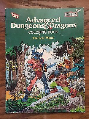 Vintage, Rare 1983 Advanced Dungeons & Dragons The Lost Wand Coloring Book