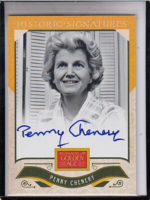 """2012 Panini Golden Age Penny Chenery """"secretariat's Owner Autograph"""