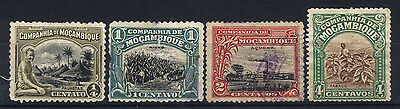1918/1921 MOZAMBIQUE SET OF 4 USED STAMPS (Michel # 114,116,118,142)