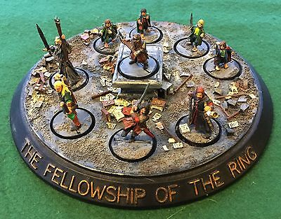 28mm Fellowship of the Ring with Moria diorama, LotR, GW, Fantasy