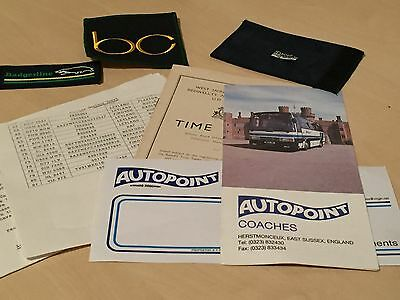 Lot Vintage Bus / Coach Travel Items - Badgerline Patch - Timetables ++