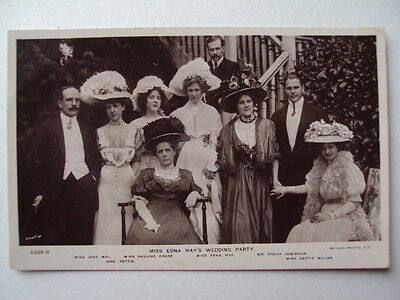 Miss Edna May's Wedding party - circa 1907 real photograph