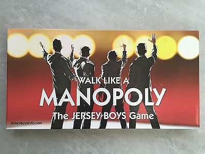 Walk Like A MANOPOLY Monopoly JERSEY BOYS Board Game Brand New Sealed
