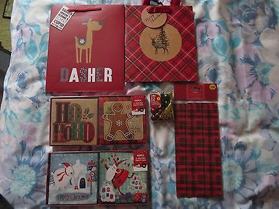 Job Lot Christmas Gift Bags, Christmas Cards, Tissue Paper & Embellishments #3