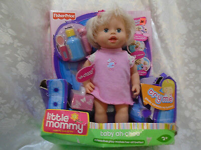 "Fisher Price 13"" Little Mommy Interactive Baby Ah-Choo Doll New"
