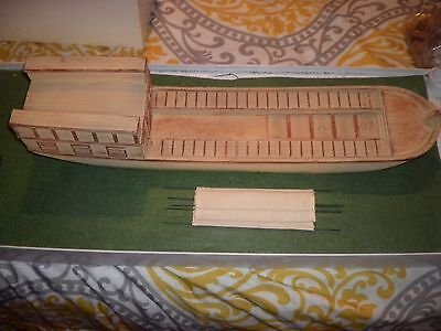Barzso Louis And Clark Playset Skiff Barge Clean.