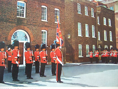 Vintage Military Postcard -The Queen's Life Guards  London