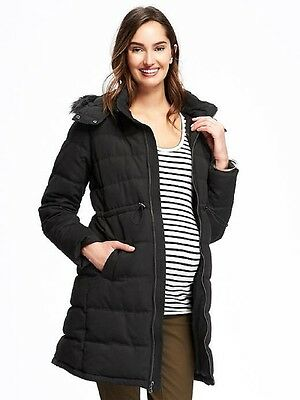 Old Navy Women's Maternity Hooded Frost Free Puffer Coat Jacket S M  L  Xl