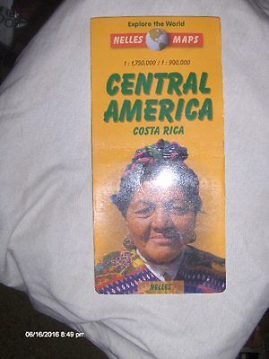 Travel Map of Central America (Nelles Maps) from Oaxaca, Mexico to Darien Gap