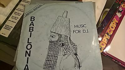 "12"" Babilonia Music For D.j. Limited Edition B.b.n.10030 Pink Record Usa"