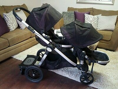 Baby Jogger City Select Double Stroller with Second Seat and Glider Board