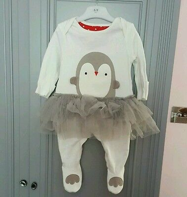 Baby girl penguin tutu outfit. Age 3-6M