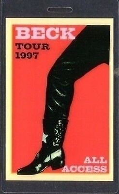 BECK backstage pass Tour Laminate ALL ACCESS 97