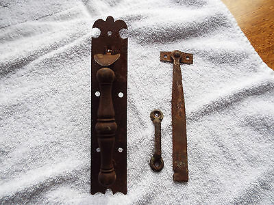 Antique Wrought Iron Early American Thumb Latch Door Handle