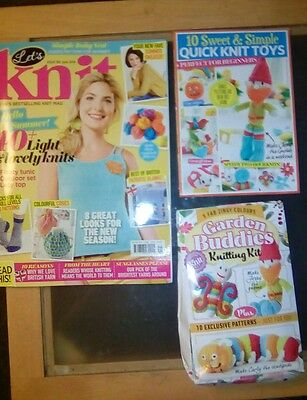 Lets Knit Craft Magazine Issue 106 + FREE Gifts *NEW* 2016