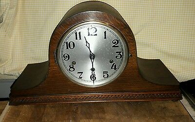 Napoleon Haller Westminster Chime Mantle Clock +Pendulum & Key In E.w.o Nap9