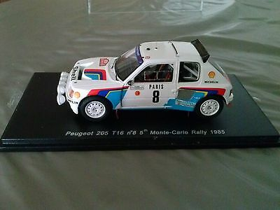 Peugeot 205 T16 evo1 Saby rallye Monte carlo 1985 1/43 spark s1269