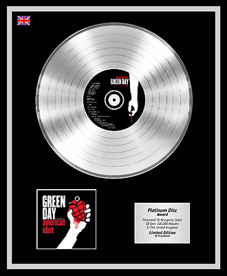 GREEN DAY Ltd Edition CD Platinum Disc Record AMERICAN IDIOT