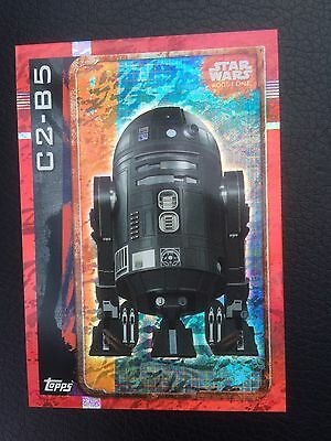 STAR WARS: ROGUE ONE Trading Cards - HOLOGRAPHIC FOIL Card - C2 B5 192