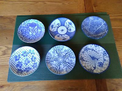 6 Blue & White Chinese Inspired Small Dishes