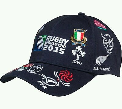 Rugby World Cup 2015 20 Nations Cap Navy (Adults) Genuine